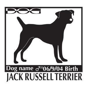 犬 ステッカー A ジャックラッセルテリアのグッズ Mサイズ|walajin-dog