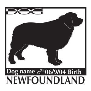 犬 ステッカーA ニューファンドランド Lサイズ|walajin-dog