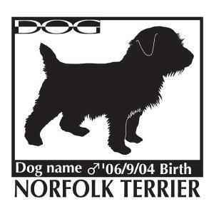 犬 ステッカーA ノーフォークテリア Mサイズ|walajin-dog