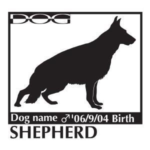 犬 ステッカー A ジャーマンシェパードドッグのグッズ Mサイズ walajin-dog