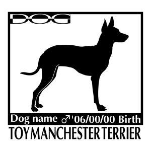 犬 ステッカーA トイマンチェスターテリア 横向きMサイズ walajin-dog
