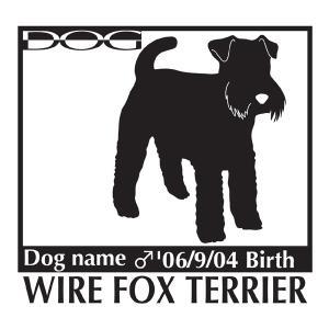 犬 ステッカーA ワイヤーフォックステリア Mサイズ|walajin-dog