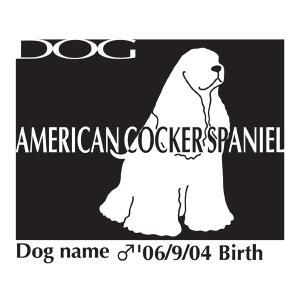 ドッグシールステッカーB アメリカンコッカースパニエル お座りMサイズ|walajin-dog