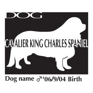 ドッグシールステッカーB キャバリアキングチャールズスパニエル Mサイズ|walajin-dog