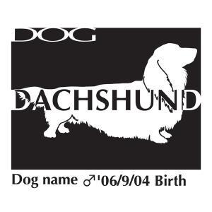 ドッグシールステッカーB ダックスフンド ロング Lサイズ|walajin-dog