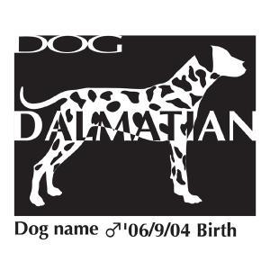 ドッグシールステッカーB ダルメシアン 柄入りMサイズ|walajin-dog