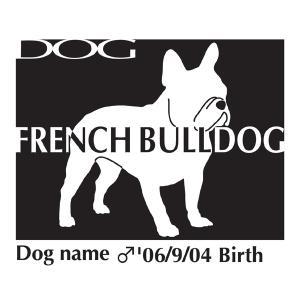 ドッグシールステッカーB フレンチブルドッグ Lサイズ walajin-dog