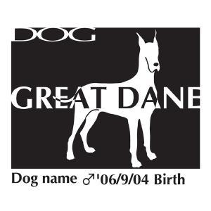 ドッグシールステッカーB グレートデーン Lサイズ|walajin-dog