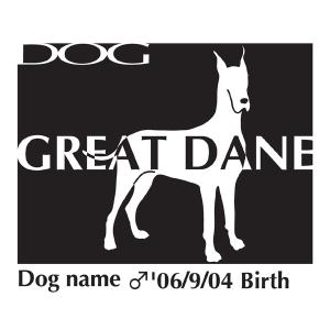 ドッグシールステッカーB グレートデーン Mサイズ|walajin-dog