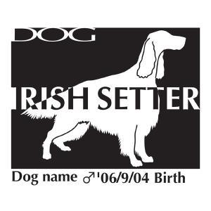 ドッグシールB アイリッシュセター Lサイズ|walajin-dog