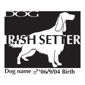 ドッグシールステッカーB アイリッシュセター Mサイズ|walajin-dog