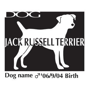 ドッグシールステッカーB ジャックラッセルテリア Mサイズ|walajin-dog