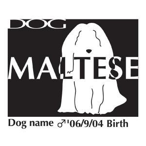 ドッグシールステッカーB マルチーズ Mサイズ walajin-dog