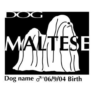 ドッグシールステッカーB マルチーズ NEW Lサイズ walajin-dog