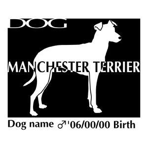 ドッグシールステッカーB マンチェスターテリア 斜向きMサイズ|walajin-dog