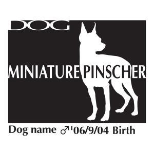 ドッグシールステッカーB ミニチュアピンシャー Lサイズ|walajin-dog