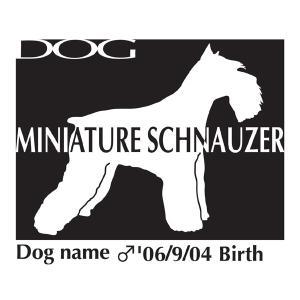 ドッグシールステッカーB ミニチュアシュナウザー Mサイズ|walajin-dog