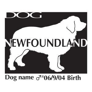 ドッグシールステッカーB ニューファンドランド Mサイズ|walajin-dog