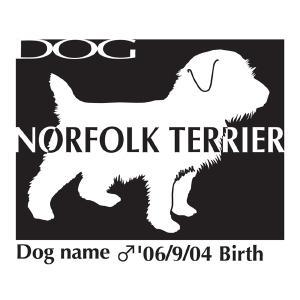 ドッグシールステッカーB ノーフォークテリア Lサイズ|walajin-dog