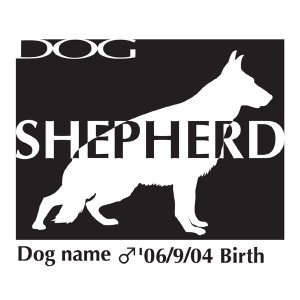 ドッグシールステッカーB ジャーマンシェパードドッグ Lサイズ walajin-dog