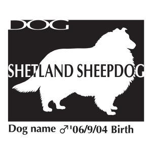 ドッグシールステッカーB シェットランドシープドッグ Mサイズ|walajin-dog