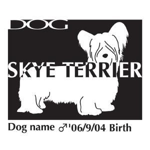 ドッグシールステッカーB スカイテリア Mサイズ walajin-dog