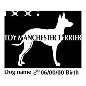 ドッグシールステッカーB トイマンチェスターテリア 横向きMサイズ walajin-dog