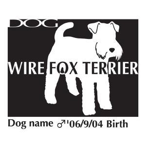 ドッグシールステッカーB ワイヤーフォックステリア Mサイズ|walajin-dog