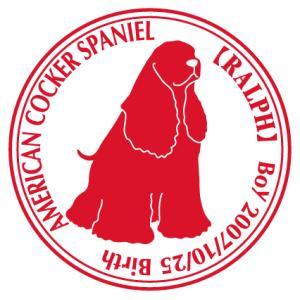 アメリカンコッカースパニエルお座り 犬 ステッカー Cパターン |walajin-dog