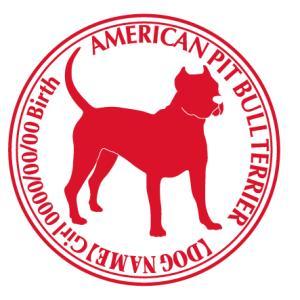 アメリカンピットブルテリア斜め 犬 ステッカー Cパターン |walajin-dog