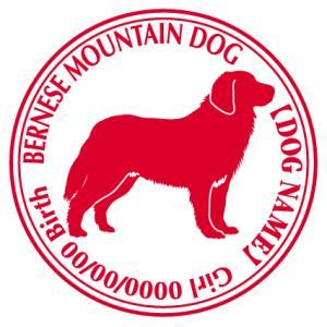 バーニーズマウンテンドッグ 犬 ステッカー Cパターン |walajin-dog