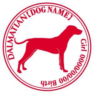 ダルメシアン 犬 ステッカー Cパターン |walajin-dog