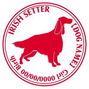 アイリッシュセター 犬 ステッカー Cパターン |walajin-dog