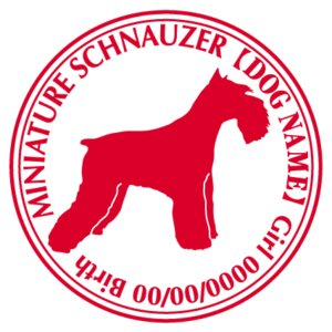 ミニチュアシュナウザー 犬 ステッカー Cパターン |walajin-dog