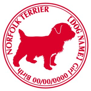 ノーフォークテリア 犬 ステッカー Cパターン |walajin-dog