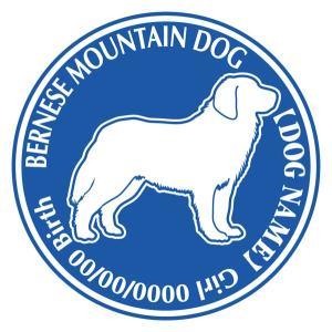 バーニーズマウンテンドッグ 犬 ステッカー Dパターン |walajin-dog