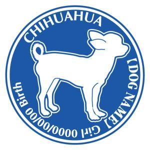 チワワ スムース横向き 犬 ステッカー Dパターン |walajin-dog