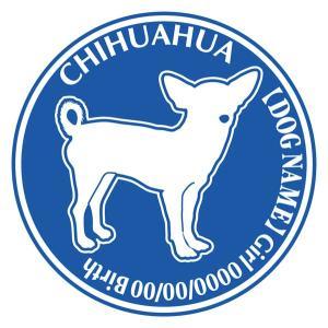 チワワ スムース正面 犬 ステッカー Dパターン |walajin-dog