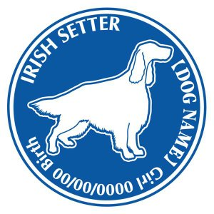 アイリッシュセター 犬 ステッカー Dパターン |walajin-dog