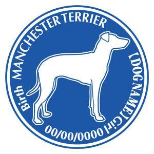 マンチェスターテリア横向き 犬 ステッカー Dパターン |walajin-dog