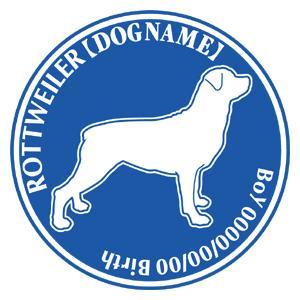 ロットワイラー 犬 ステッカー Dパターン |walajin-dog