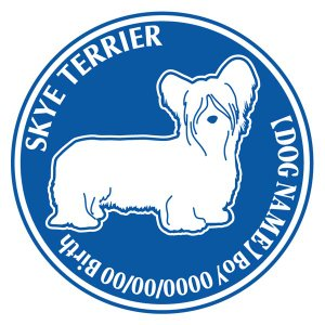 スカイテリア 犬 ステッカー Dパターン  walajin-dog