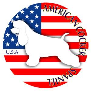 ドッグステッカーまる アメリカンコッカースパニエル 横向きLサイズ|walajin-dog