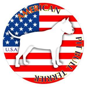 ドッグステッカーまる アメリカンピットブルテリア 横向きLサイズ|walajin-dog