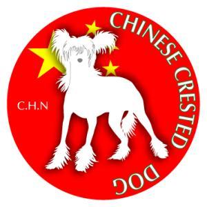 ドッグシールステッカーまる チャイニーズクレステッドドッグ Mサイズ(2枚1セット)|walajin-dog
