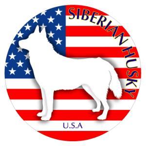 ドッグシールステッカーまる シベリアンハスキー Mサイズ 2枚1セット|walajin-dog