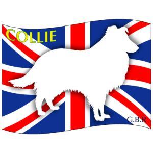 ドッグシールステッカーはた コリー Mサイズ(2枚1セット)|walajin-dog