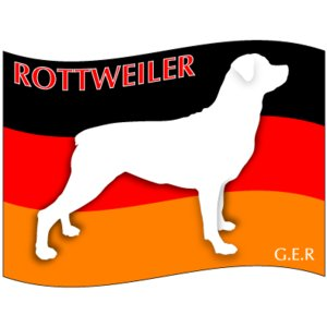 ドッグシールステッカーはた ロットワイラー Sサイズ(3枚1セット)|walajin-dog