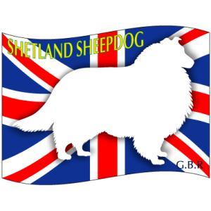 ドッグシールステッカーはた シェットランドシープドッグ Mサイズ 2枚1セット|walajin-dog