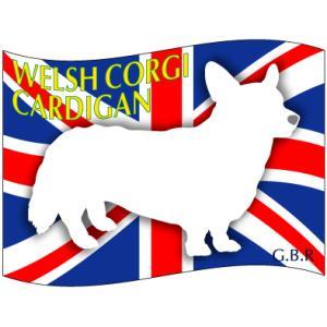 ドッグシールステッカーはた ウェルシュコーギーカーディアン Sサイズ 3枚1セット walajin-dog